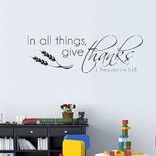 Wall Decals Stickers In Every Thing Give Thanks Simplify V2 Vinyl Decal Wall Art Decor Sticker Home Furniture Diy Tallergrafico Com Uy