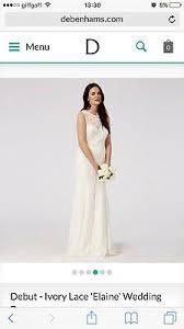 ivory lace wedding dress uk10