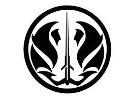 Gray Jedi Decal Etsy