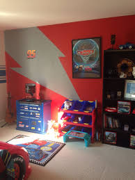 Lighting Mcqueen Themed Cars Room Car Themed Bedrooms Cars Room Cars Bedroom Decor