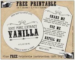 free homemade vanilla labels printable