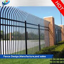 China Palisade High Security Fence Cheap Wrought Iron Fence Panels For Sale China Security Fence Aluminum Fence