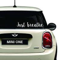 Vinyl Car Decal Just Breathe White Color White Car Decal Etsy