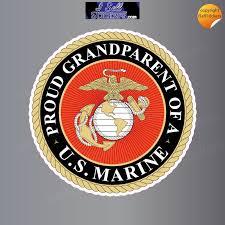 Proud Grandparent Of A Us Marine Military Car Truck Bumper Sticker Window Decal