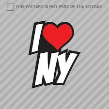 7 5 I Love Ny Vinyl Decal Sticker Car Laptop New York City Big Apple Heart