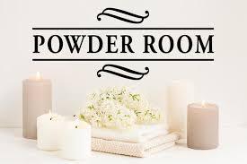 Powder Room Wall Decal Vinyl Decal Bathroom Wall Decals Etsy