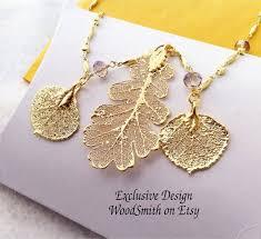 real gold leaf jewelry custom design
