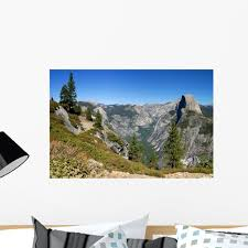 Yosemite H Alf Dome Wall Mural Decal By Wallmonkeys Vinyl Peel And Stick Graphic 24 In W X 16 In H Walmart Com Walmart Com