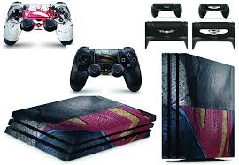 Gng Ps4 Pro Superman Protective Vinyl Decal Skin Sticker Cover Console