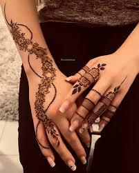 Eid Teenage Girl Simple Finger Mehndi Design