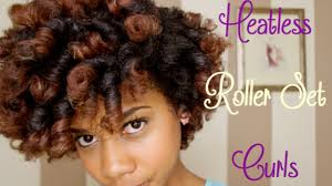 roller set curls on natural hair