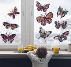 Butterflies Window Decoration Window Sticker Tenstickers