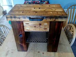 small chair side table made from