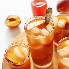 simple peach iced tea minimalist