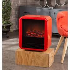 red cozy electric fireplace heater