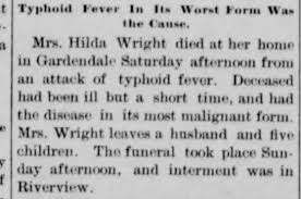 Death notice - WRIGHT - Mrs. Hilda - Gardendale, East Liverpool ...