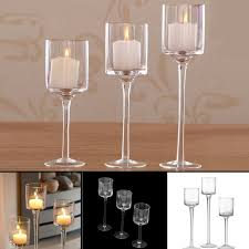 tall glass large candle holders