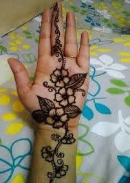 Simple Mehndi Design New Front Side