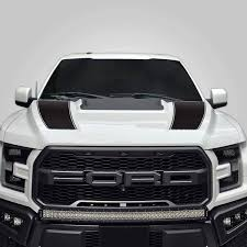 Amazon Com Factory Crafts Hood Racing Stripe Graphics Kit 3m Vinyl Decal Wrap Compatible With Ford F 150 Raptor 2017 2021 Matte Black Kitchen Dining