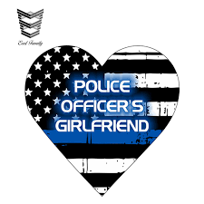 5 Pcs Police Officer Thin Blue Line American Flag Decal Car Suv Sticker