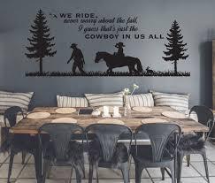 Large Western Wall Art Cowboy Wall Decor Etsy Wall Vinyl Decor Cowboy Home Decor Western Wall Art