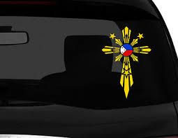 Filipino Pinoy Vinyl Car Decal Sticker 7 5 H W Cross No 2 Philippine Flag Rl Ebay
