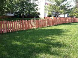 Large Lawn Wood Fence Allstar Fence