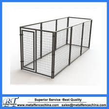 China 1 5x1 8m Welded Wire Panel Large Outdoor Galvanized Welded Pet Enclosure Dog Kennel China Iron Cages And Metal Pet Cage Price