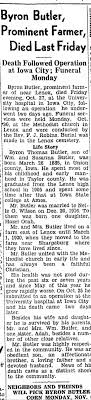 Obituary for Byron Thomas Butler - Newspapers.com
