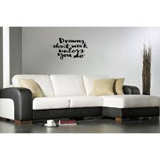 Shop Dreams Don T Work Unless You Do Quote Wall Art Sticker Decal Overstock 11540316