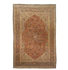 antique rug with a clic middle