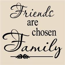 friends are chosen family vinyl lettering wall decal tile quote