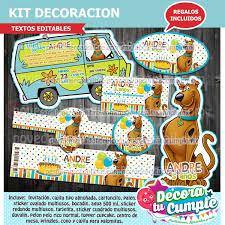 Kit Imprimible Scooby Doo Decoracion Invitacion B72 29 00 En