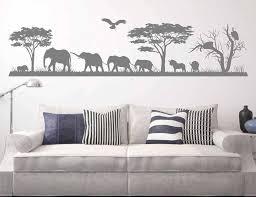 Large Size Safari Wild Animals Wall Decal Jungle Wall Decal African Elephants Vinyl Sticker Bedroom Nursery Animal Decor 3114 Wall Stickers Aliexpress