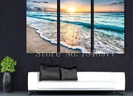 print canvas paintings sea beach