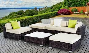 outsunny clearance rattan fur groupon