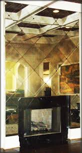antiqued mirrored glass antiqued
