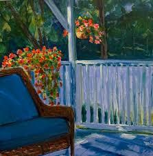 "Original acrylic painting ""My Morning Place"" 24 x 24 . Cindy Lawson-Kester"