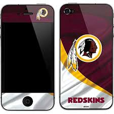 Amazon Com Skinit Washington Redskins Iphone 4 4s Skin Officially Licensed Nfl Phone Decal Ultra Thin Lightweight Vinyl Decal Protection Cell Phones Accessories