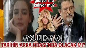 Aysun Kayacı ''tarihin arka odası'' programında yok - SacitAslan.com