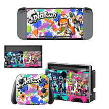 Nintend Swithc Skin Vinyl Sticker Splatoon Decal For Nintendo Switch Full Set Faceplate Stickers Console Joy Con Dock Consoleskins Co