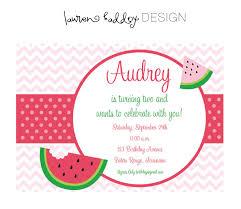 Diy Watermelon Birthday Invitation 12 00 Via Etsy