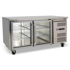 bench display fridge 390l