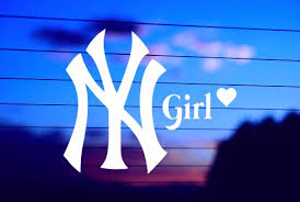 Ny Girl With Heart Car Decal Sticker