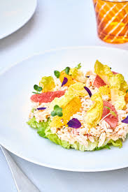 Recipe of the King Crab Salad, orange ...