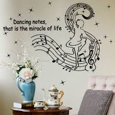 Buy Music Notes Removable Adhesive Black And White Painting Girls Bedroom Den Wall Background Wall Decoration Wall Sticker Stickers In Cheap Price On M Alibaba Com