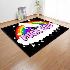 Rainbow Unicorn Pattern Rugs Children Cartoon Home Decor Carpets For Living Room Bedroom Area Rug Kids Baby Room Play Crawl Mat Carpet Aliexpress