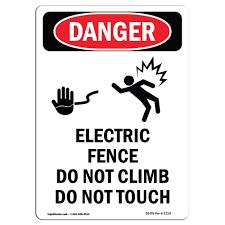 Osha Danger Sign Electric Fence Do Heavy Duty Sign Or Label Ebay