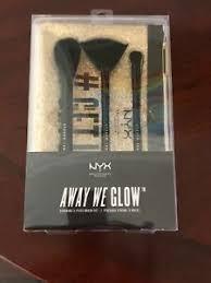 nyx away we glow brush set fan