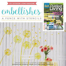 Diy Outdoor Living Magazine Embellishes A Fence With Stencils Hometalk
